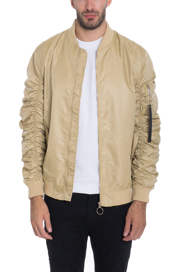 FLIGHT LINED BOMBER- KHAKI