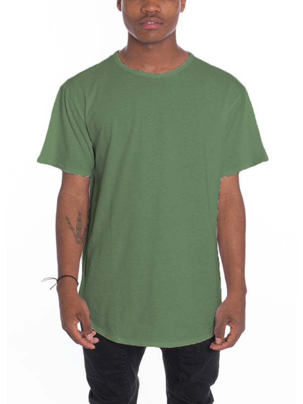 CLASSIC SCALLOP TEE- MOSS