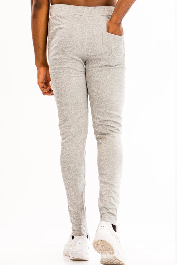 SIMPLE TRACK PANTS- HEATHER