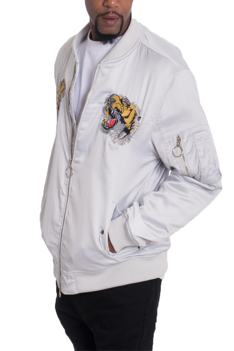 DOGTOWN BOMBER- GREY