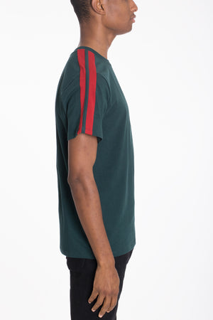 Load image into Gallery viewer, DUAL STRIPE TEE- GREEN