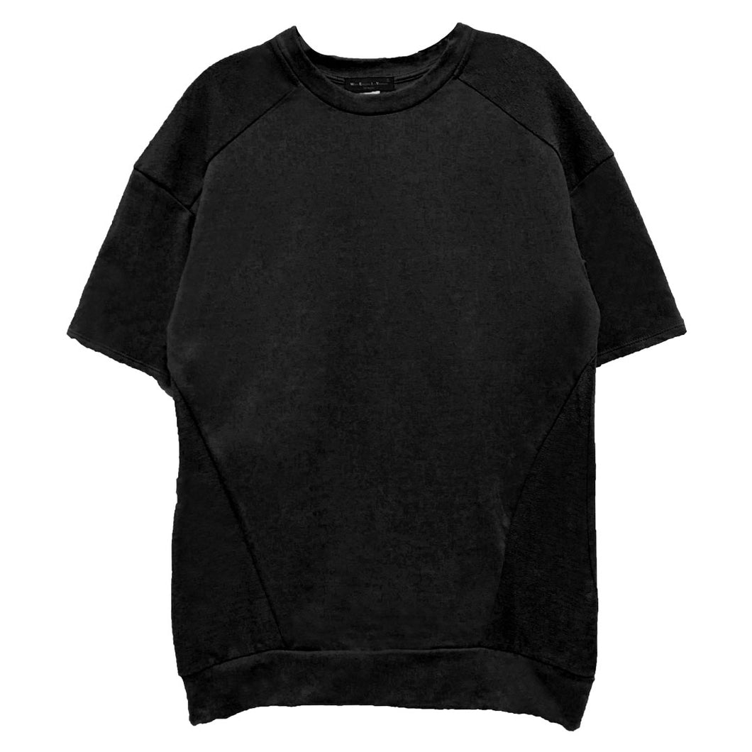 Black Reverse French Terry Tee
