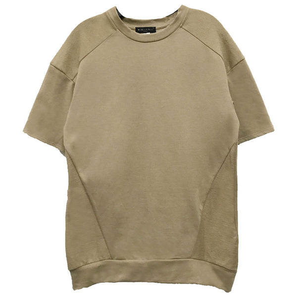 Khaki Reverse French Terry Tee