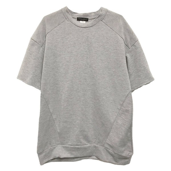 REVERSE FRENCH TERRY TEE- GREY