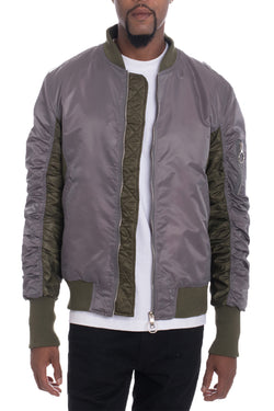 TWO TONE BOMBER- GREY