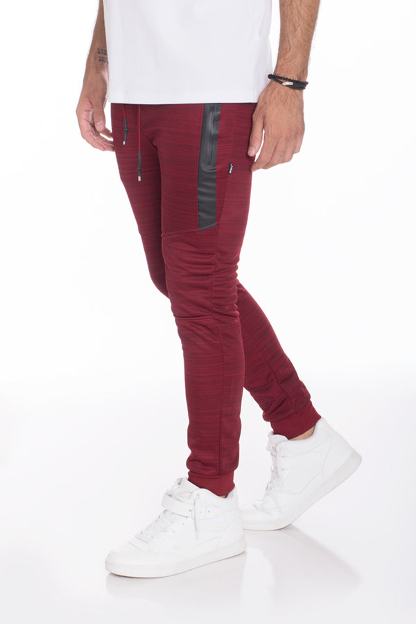 ESSENTIAL MARBLE JOGGER- BURGUNDY