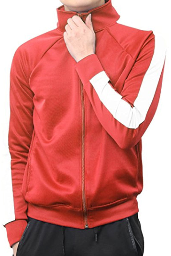 PORT TRACK JACKET- RED/WHITE