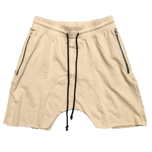 Khaki Raw Cut City Short