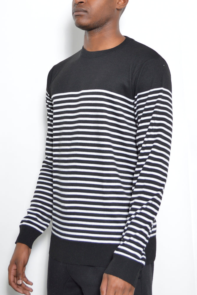 Load image into Gallery viewer, FULL KNIT STRIPED SWEATER