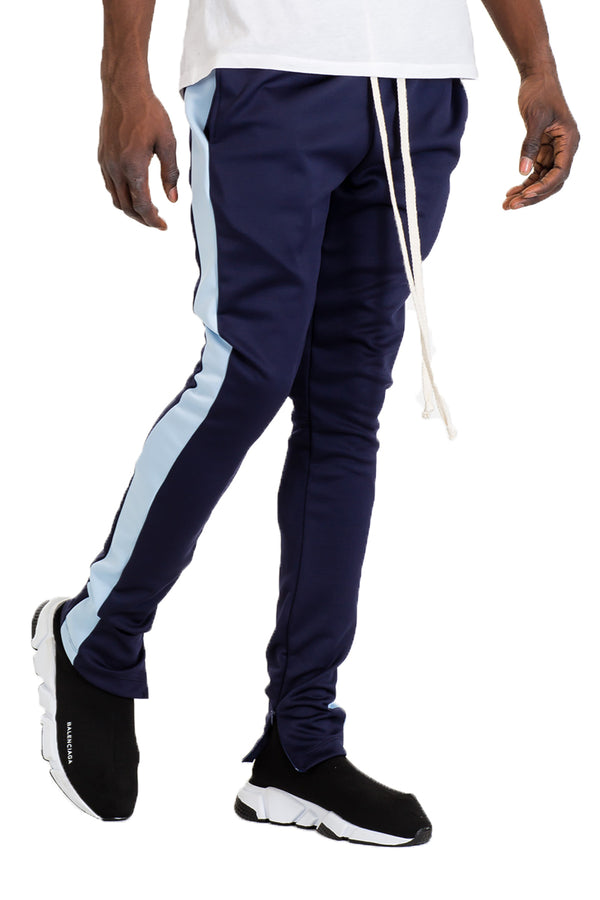 CLASSIC SKINNY FIT TRACK PANTS- NAVY/ SKY BLUE