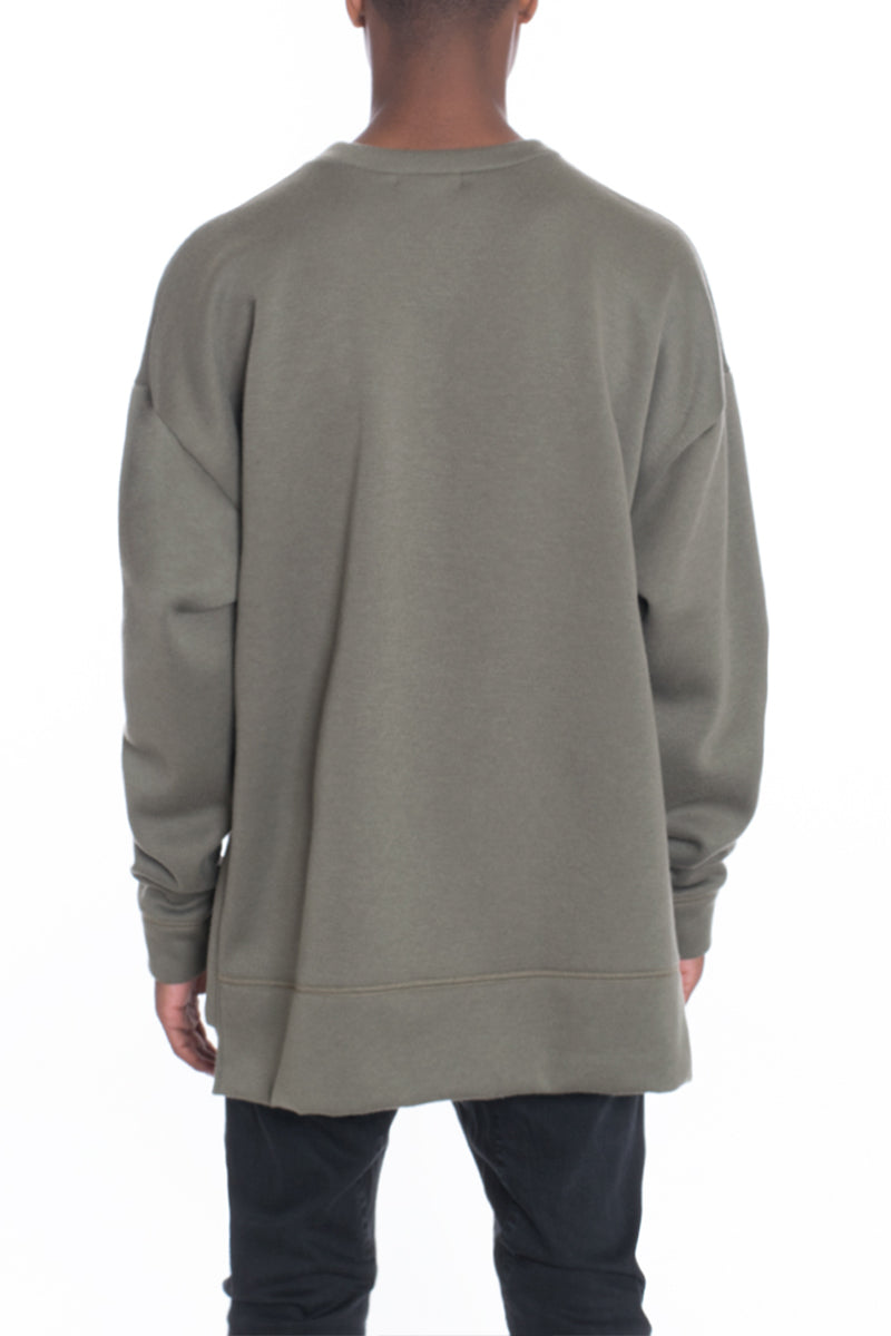 SIDEPANEL PULLOVER- OLIVE