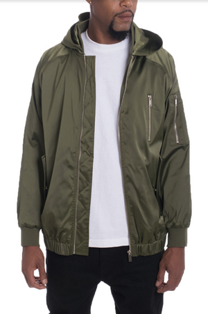 Load image into Gallery viewer, HOODIE SATIN BOMBER
