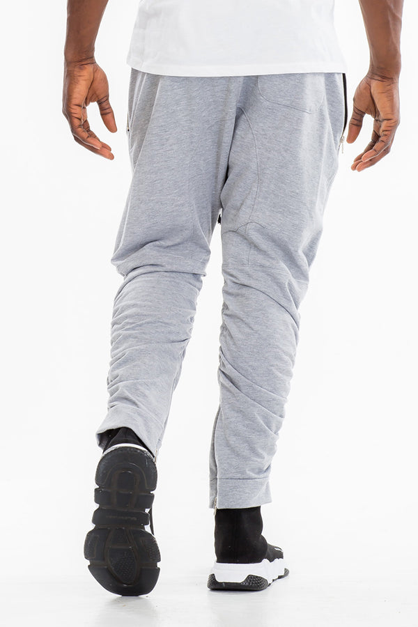 GATHERED BOMBER PANTS- GREY