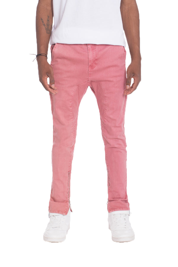 WEIV Solid Stretch Denim Skinny Jeans DUSTY PINK