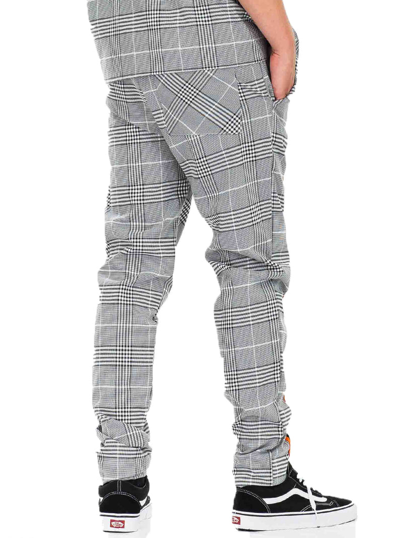 TAPED PLAID TRACK JOGGER