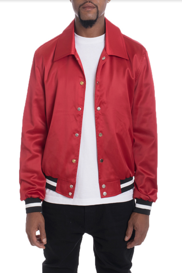 Luxury Satin Bomber