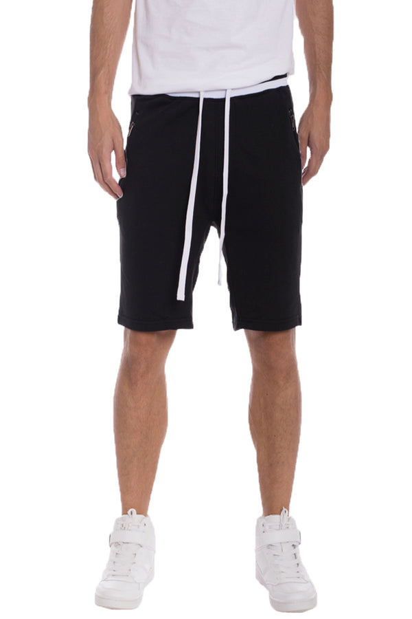 BRANDON FRENCH TERRY SHORTS- BLACK