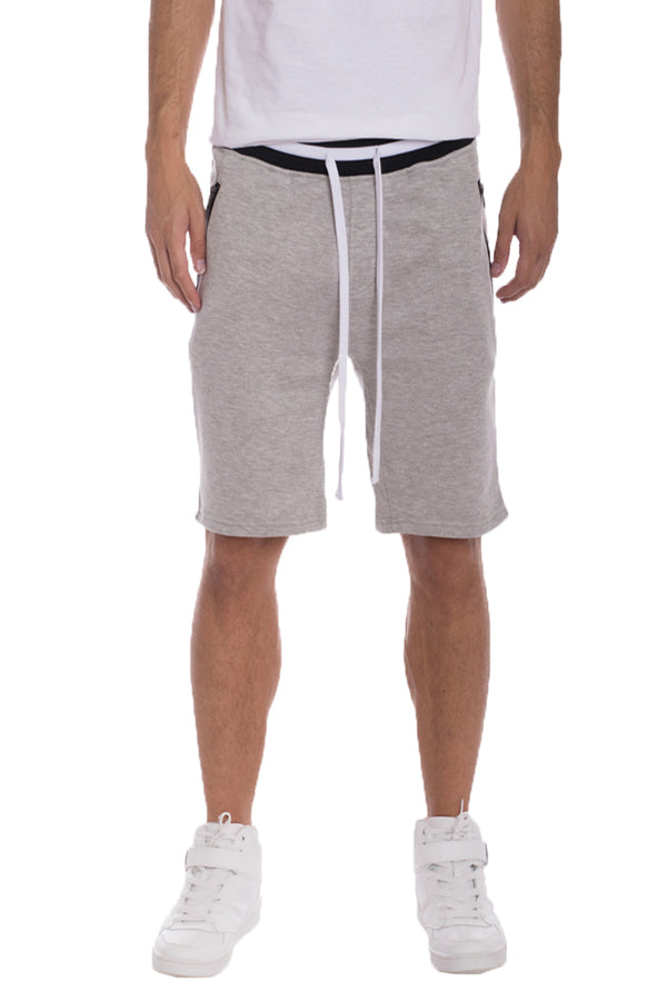 BRANDON FRENCH TERRY SHORTS- GREY