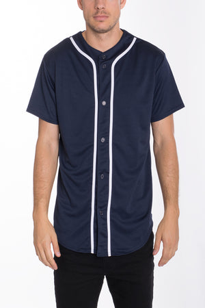 Load image into Gallery viewer, BASEBALL JERSEY- NAVY