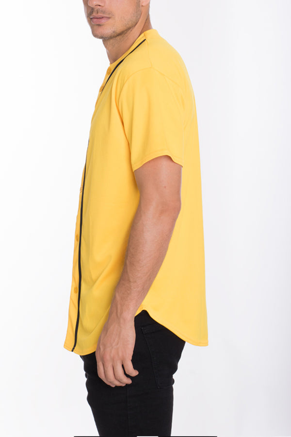 BASEBALL JERSEY- YELLOW