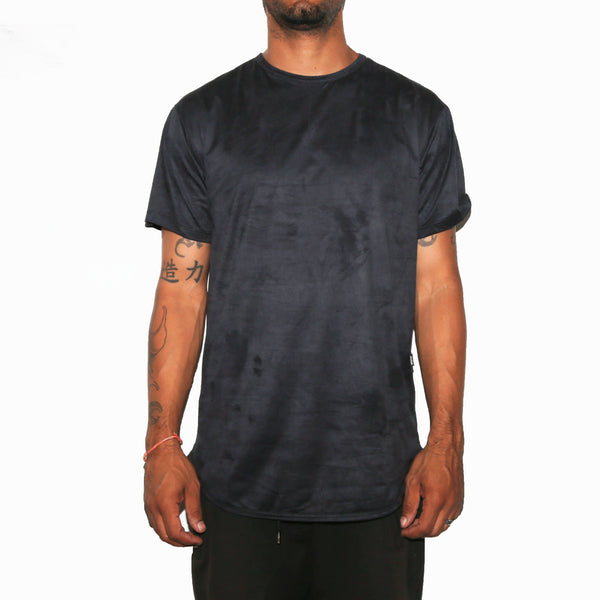 Black Velvet Scallop Tee