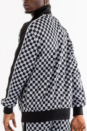 Load image into Gallery viewer, CHECKERED TRACK JACKET