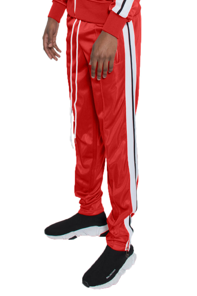 STRIPED TAPE TRACK PANTS