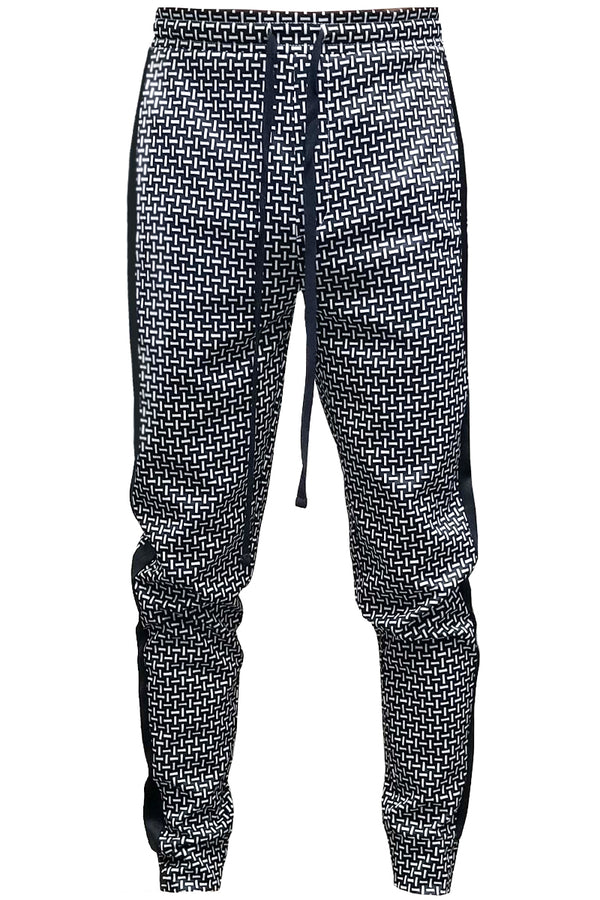 Patterned Sweatpants NAVY