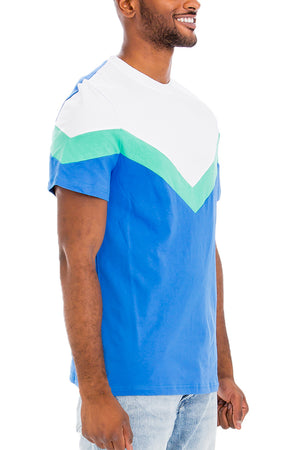 Load image into Gallery viewer, CHEVRON COLORBLOCK  TSHIRT