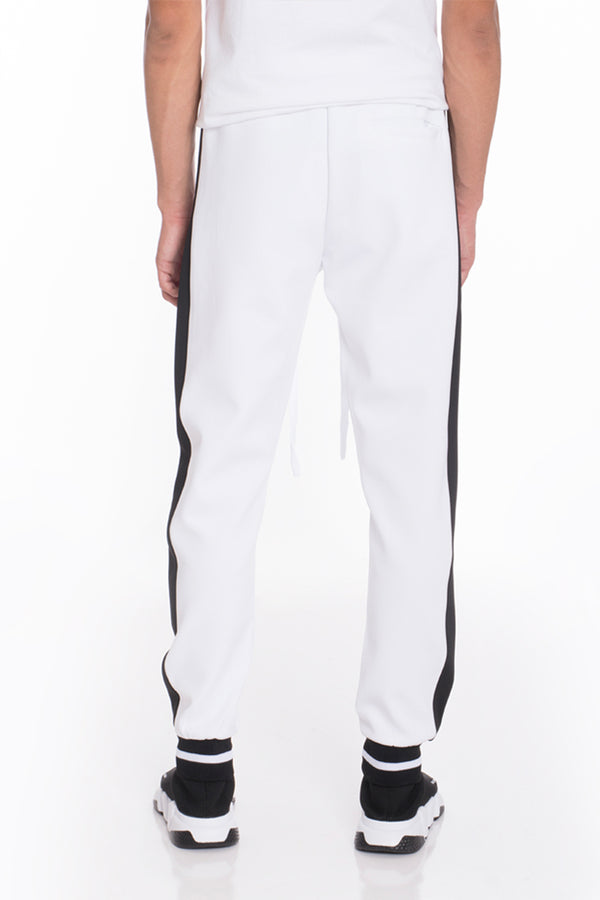 RALLY TRACK PANTS- WHITE