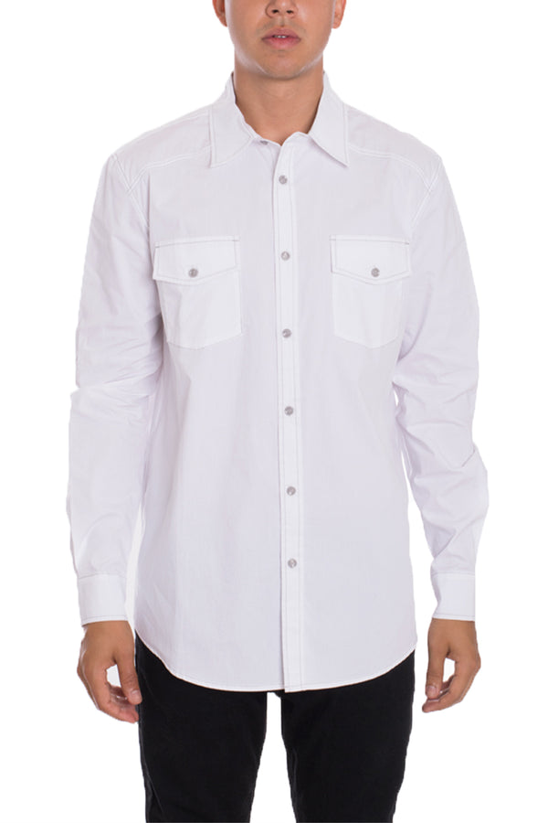 Weiv Long Sleeve Shirts White