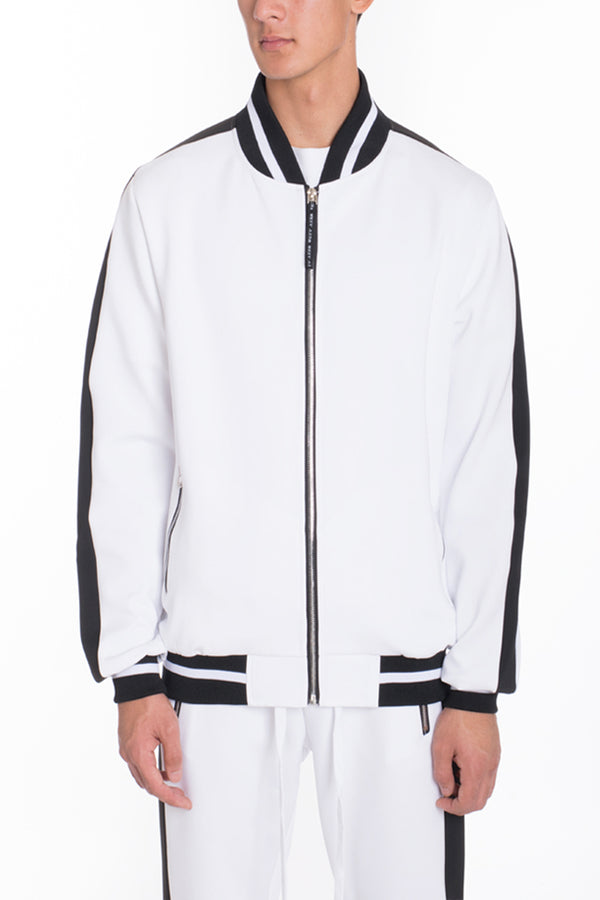 RALLY TRACK JACKET- WHITE