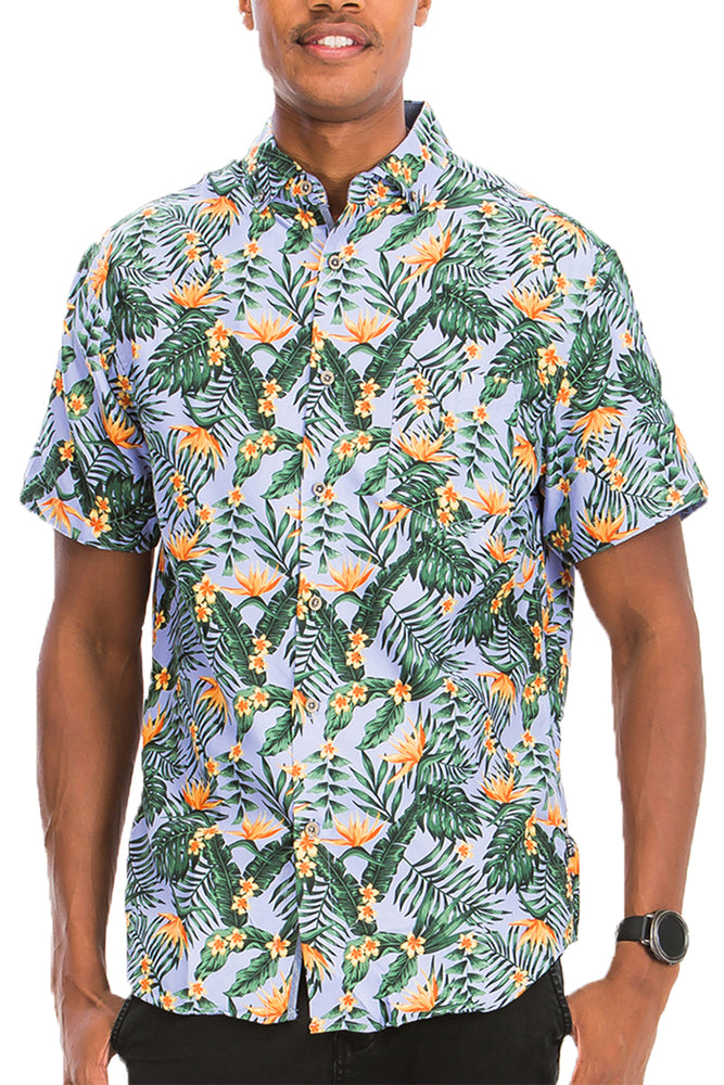 Load image into Gallery viewer, HAWAIIAN BUTTON DOWN SHIRT