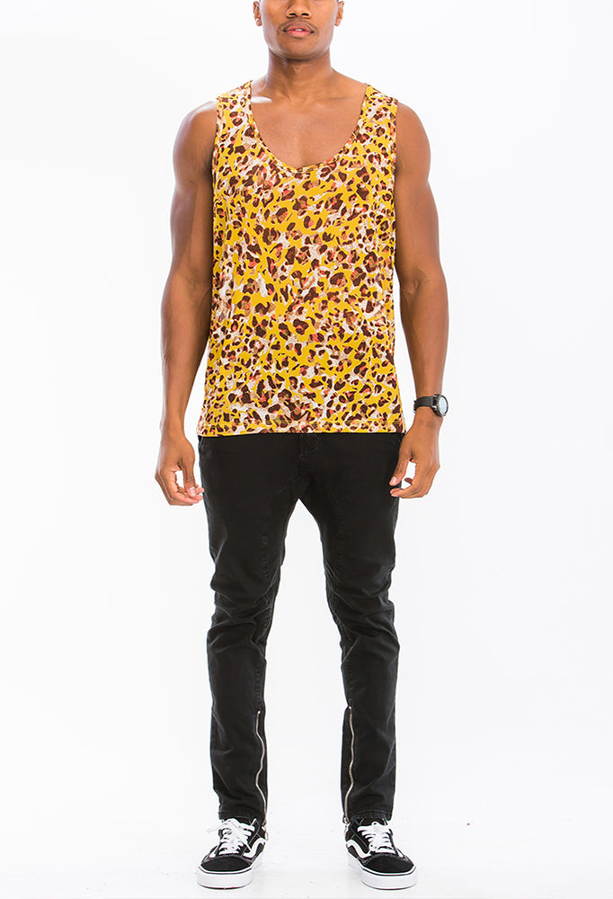 Load image into Gallery viewer, COLORED LEOPARD PRINT TANK