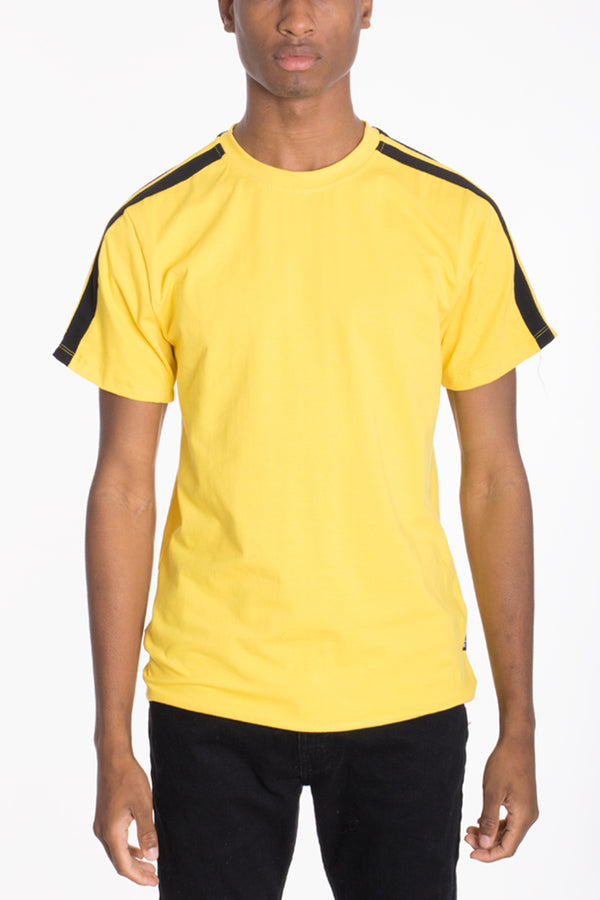 DUAL STRIPE TEE- YELLOW