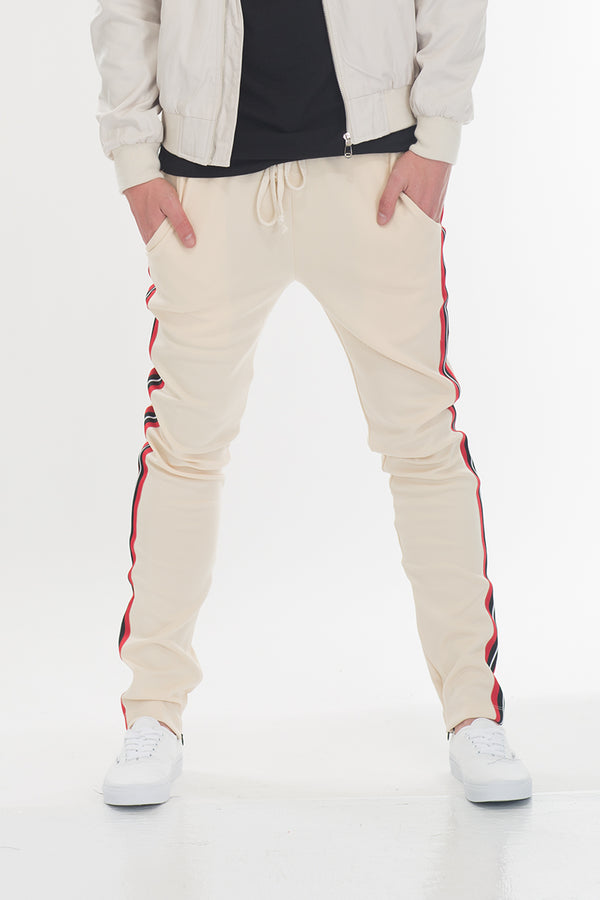TAPED PANTS- BEIGE