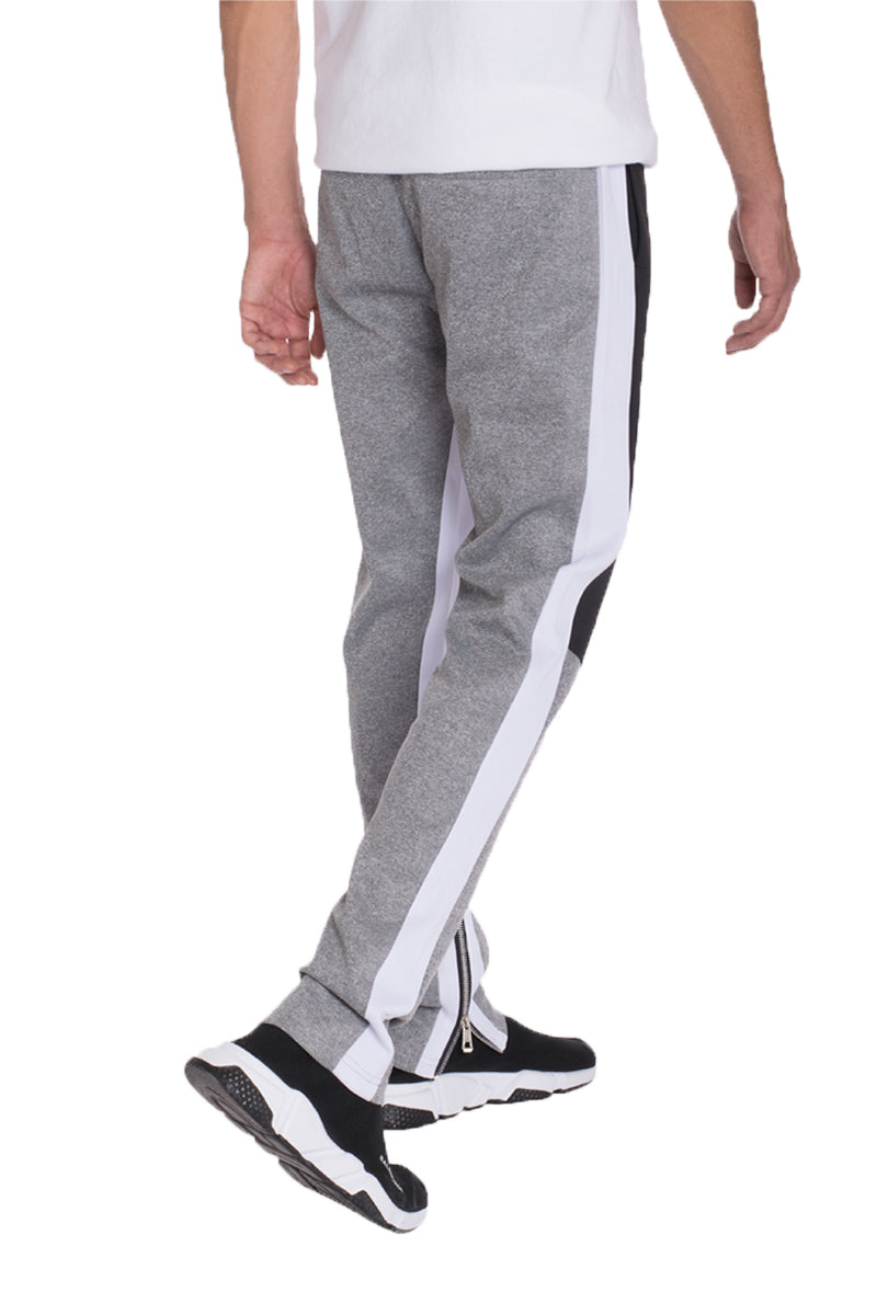 COLOR BLOCK TRACK PANTS- BLACK/ GREY