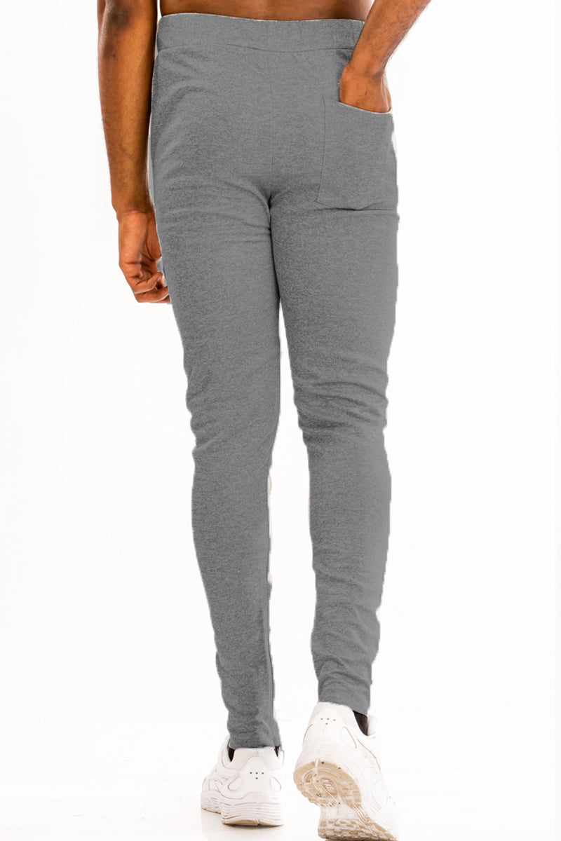 SIMPLE TRACK PANTS- CHARCOAL