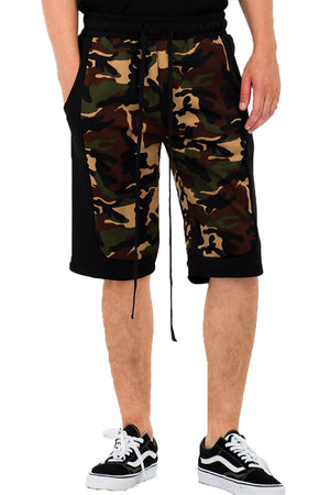 Load image into Gallery viewer, CAMO BLOCK SHORTS