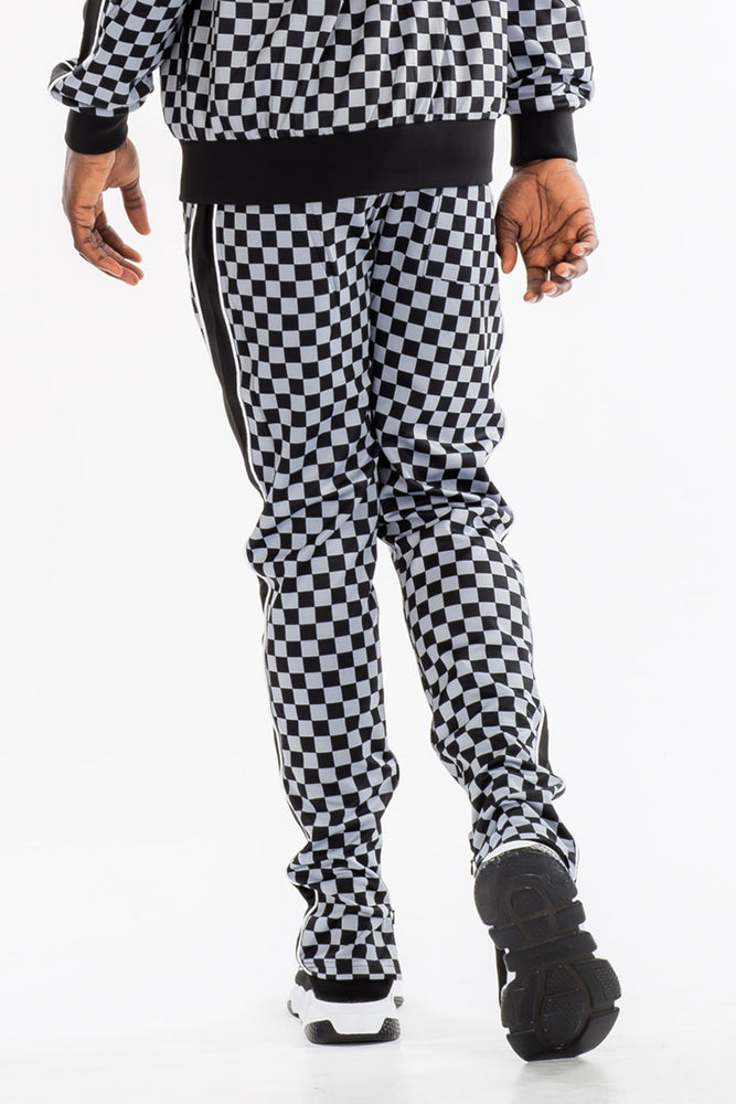 Load image into Gallery viewer, FULL CHECKERED TRACK PANTS