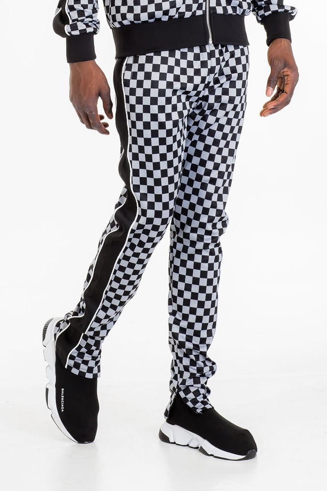 FULL CHECKERED TRACK PANTS