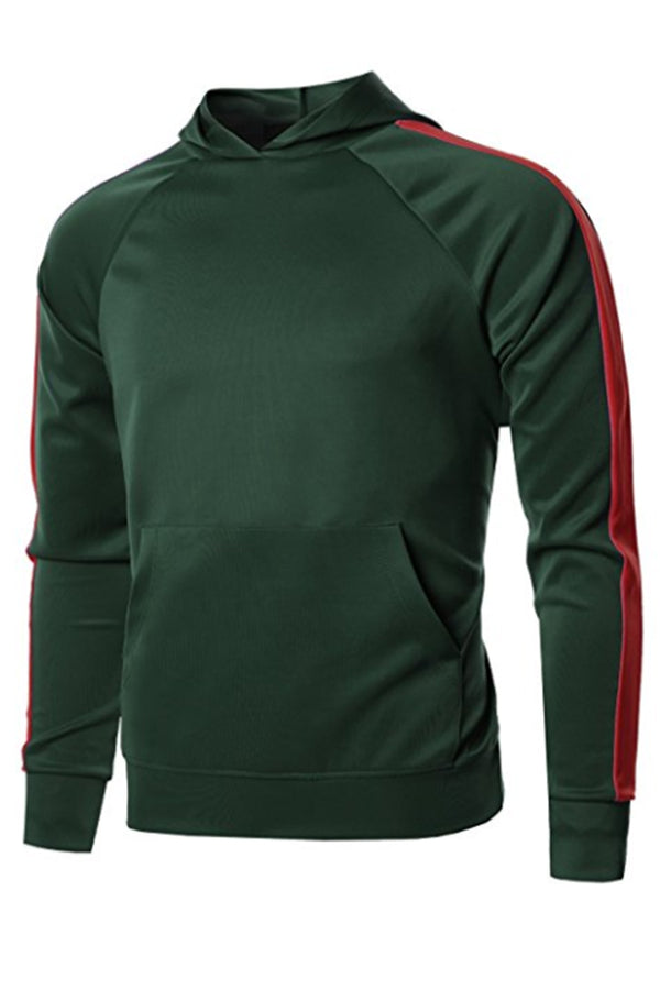PORT HOODIE- GREEN/RED