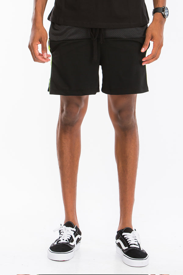 Quarter Mesh Reflective Tape Shorts