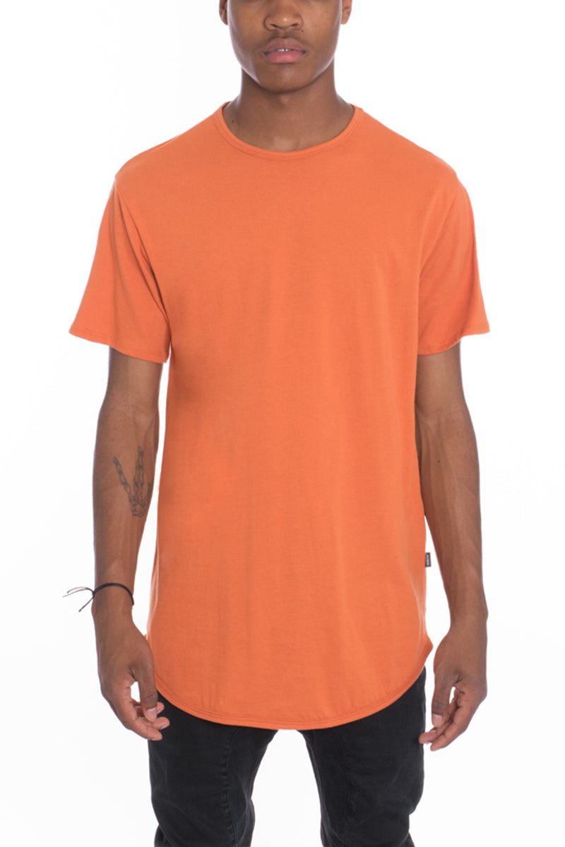 CLASSIC SCALLOP TEE- ORANGE