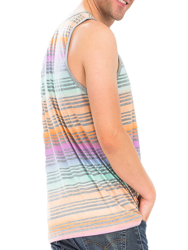 PASTEL STRIPED TANK TOP