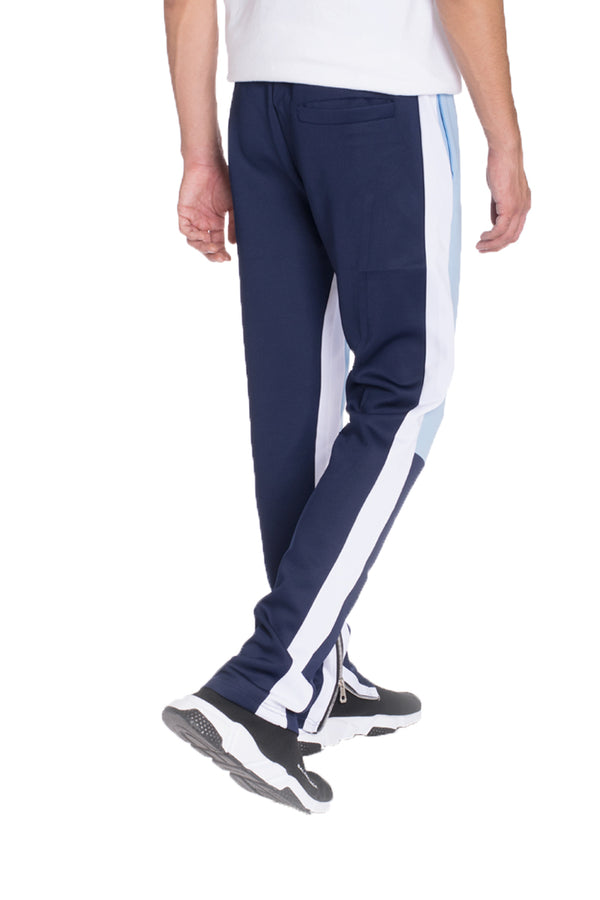 COLOR BLOCK TRACK PANTS- SKY BLUE/ NAVY