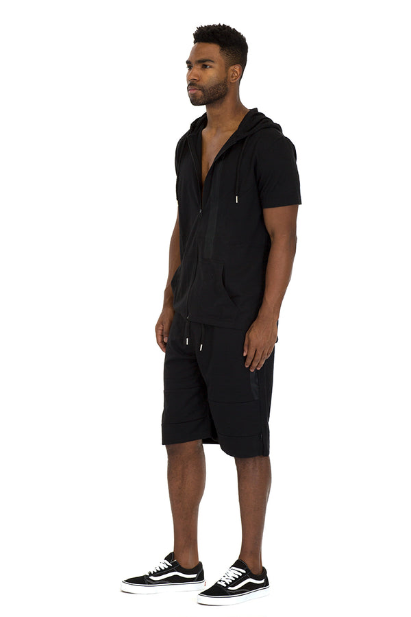 CAGE SHORT ATHLETIC SET- BLACK