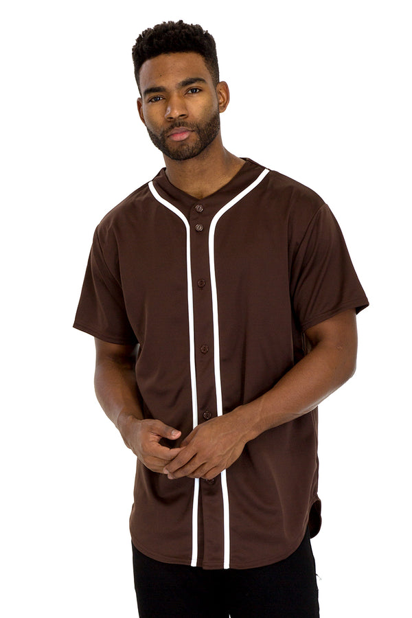 BASEBALL JERSEY- BROWN