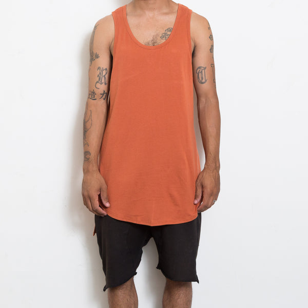 Rust Hi-Low Longline Tank Top