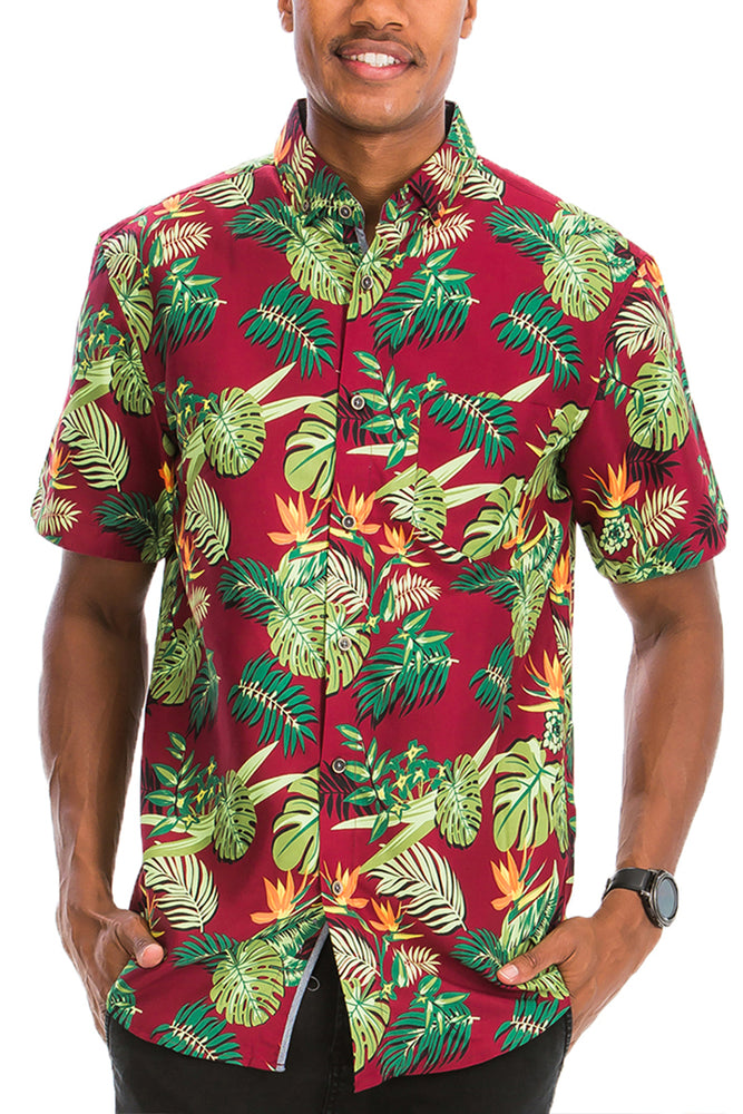 HAWAIIAN BUTTON DOWN SHIRT